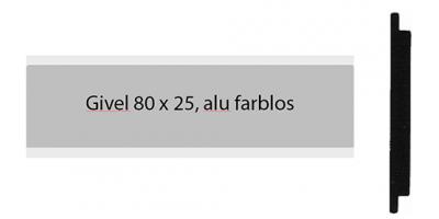 Givel Alu 80 x 25